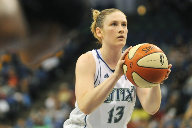 Former Gopher and three-time WNBA all-star point guard Lindsay Whalen shoots free throws against the San Antonio Silver Stars at the Target Center on Thursday.  The Minnesota Lynx acquired Whalen in January in a trade with the Connecticut Sun.