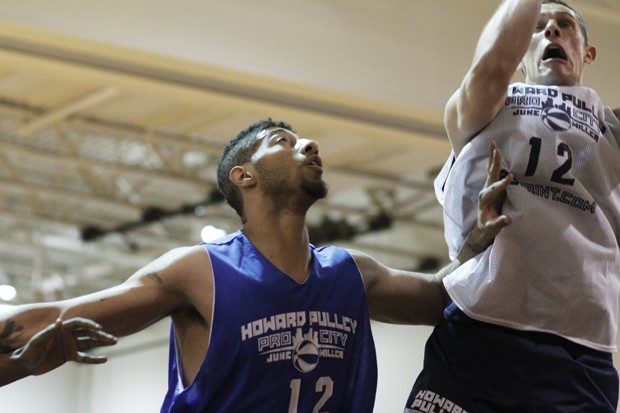 Ex-Gopher Royce White plays in the Howard Pulley league Tuesday at the St. Paul Salvation Army gym.