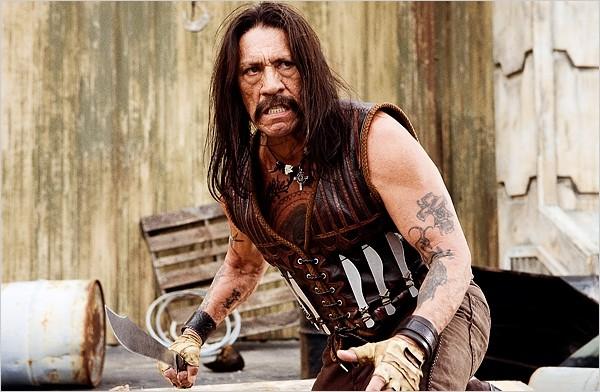 Machete (Danny Trejo) looking mean.