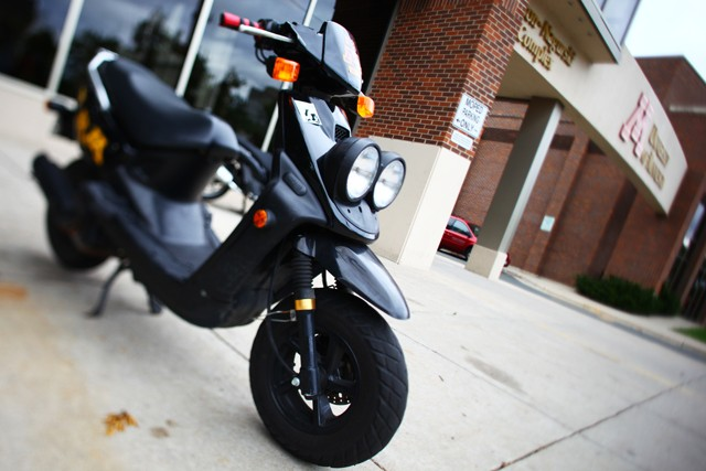 Moped parking areas are being increased all over campus to help free up bike racks.