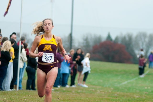 Kelly Wilson was the first gopher to finish in the Jack's Run on Saturday.