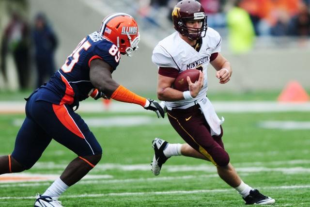 Senior quarterback Adam Webber plays against Illinois November 13 in Champaign.