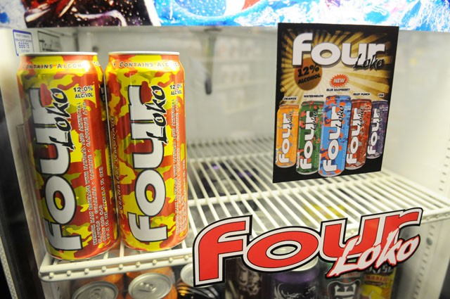 nly two cans of the alcoholic energy drink Four Loko remain on the shelf at U Liquors in Stadium Village Tuesday after the busy weekend.  The store doubled its regular order of Four Loko this week for Wednesday's delivery because of its recent increase in popularity.