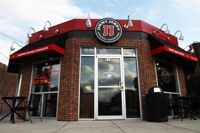 The Jimmy Johns on Oak Street prepares for the evening rush on Wednesday afternoon.