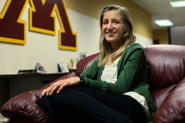 Junior Cross Country athlete Stephanie Price sits down to talk about the upcoming NCAA Cross Country championships and her recent award for athlete of the year at Bierman Field Athletic Building on Thursday.