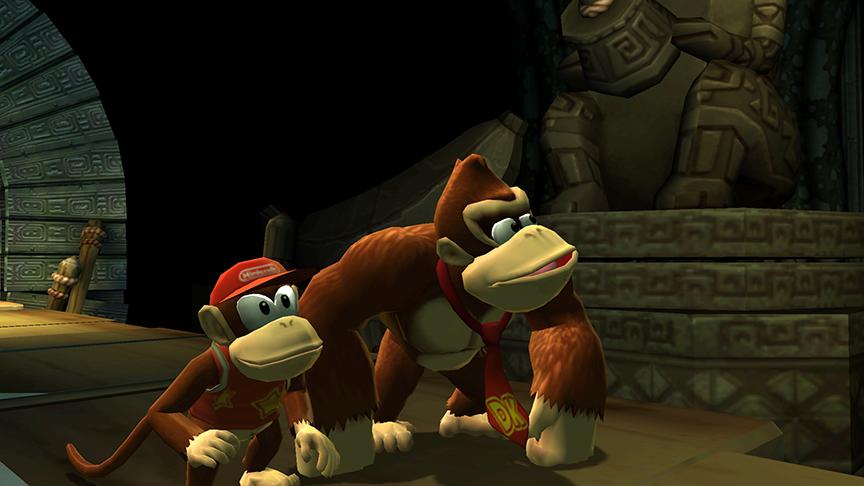 The primitive pair goes bananas for monkeyin' around. Pardon the... apish puns.