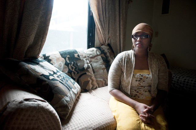 Amina Ahmed sits in her home Thursday in Cedar Riverside Plaza. She believes that female circumcision should be legalized in the United States.