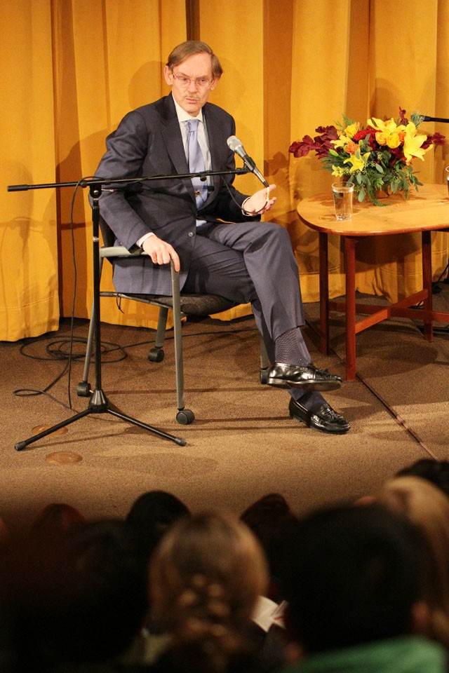 President of the World Bank Robert Zoellick talks about current financial issues and concerns Wednesday afternoon at the Hubert H. Humphrey Institute of Public Affairs.