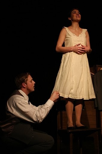 Actors Timothy Otte and Sarah Frazier tend to alterations in