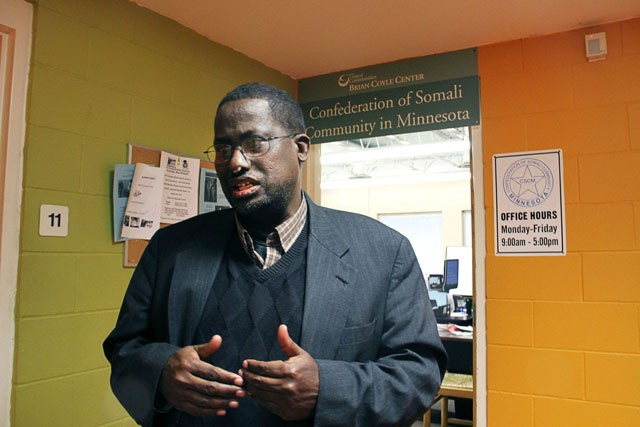 Executive Director of the Confederation of Somali Community in Minnesota Saeed Fahia talks about the recent shooting on Tuesday at the Brian Coyle Community Center. He discussed how the Cedar Riverside community is trying to stay strong and positive after Monday nights shooting outside the community center.