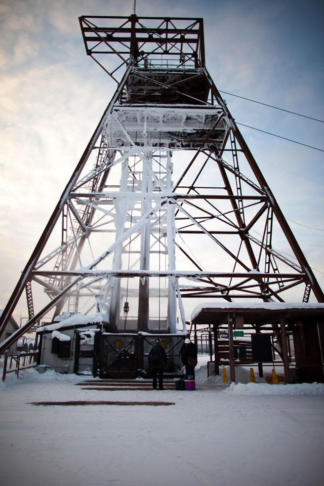 he headframe stands above the Soudan Underground Laboratory at the Soudan Underground Mine State Park. Physicists use the