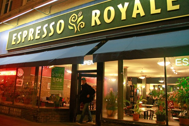 Customers are asked to leave Expresso Royale  after the barista announces its 11pm closing time on March 11. The Dinkytown café is struggling with the city licensing office to change the current permit restrictions.