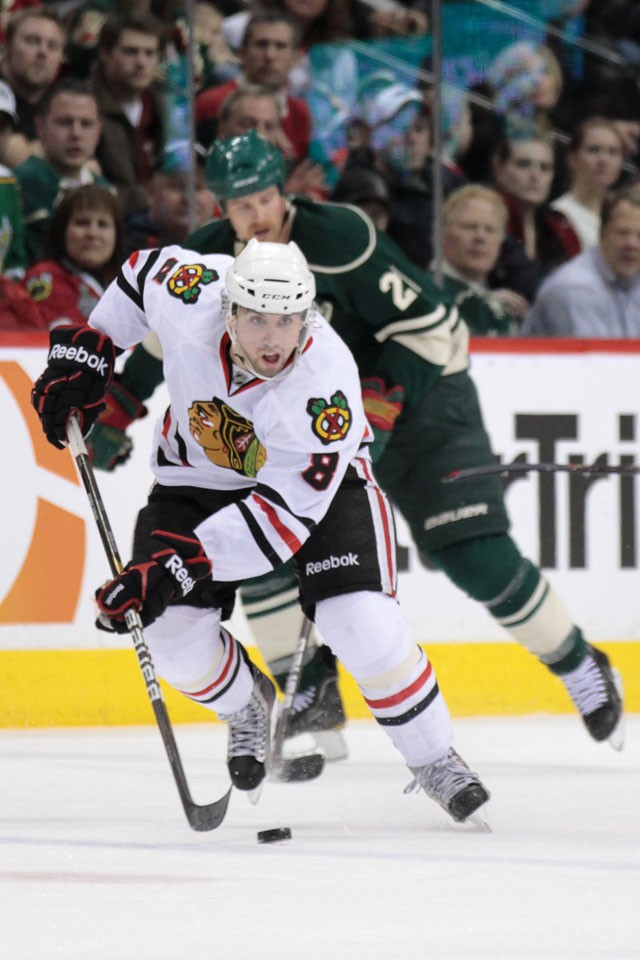 Nick Leddy returned home Monday to the Xcel Energy Center as a starting defenseman for the Chicago Blackhawks.