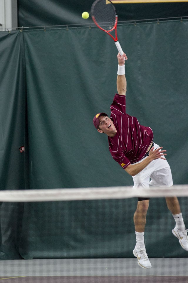 Men play for tennis version of Little Brown Jug at Mich.