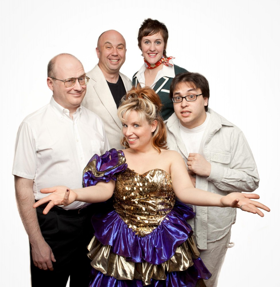 The cast, clockwise from left: Kelvin Hatle, Tim Uren, Courtney McLean, phillip andrew, bennet low, Sharon Stiteler