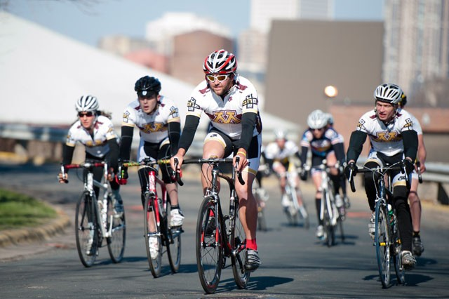 University cyclists shut down streets
