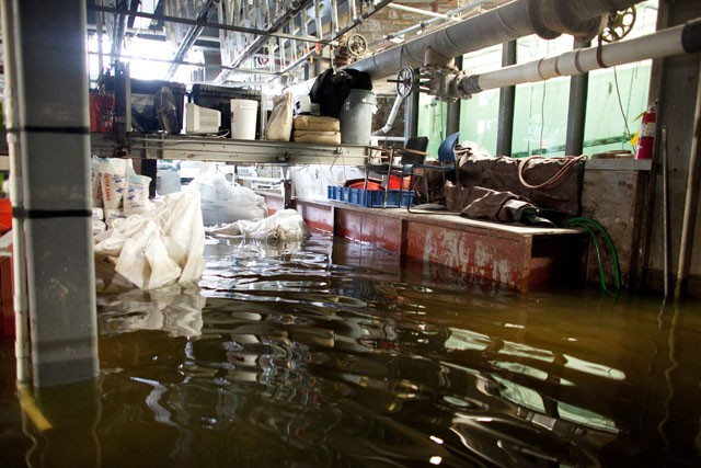 Basement flooding at the St. Anthony Falls Laboratory is expected to peak at 3 feet.