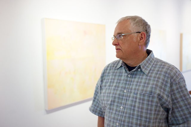 """""""Innuendo"""" by Abstract expressionist James Wrayge is happening at Rosalux Art Gallery now through June 25."""