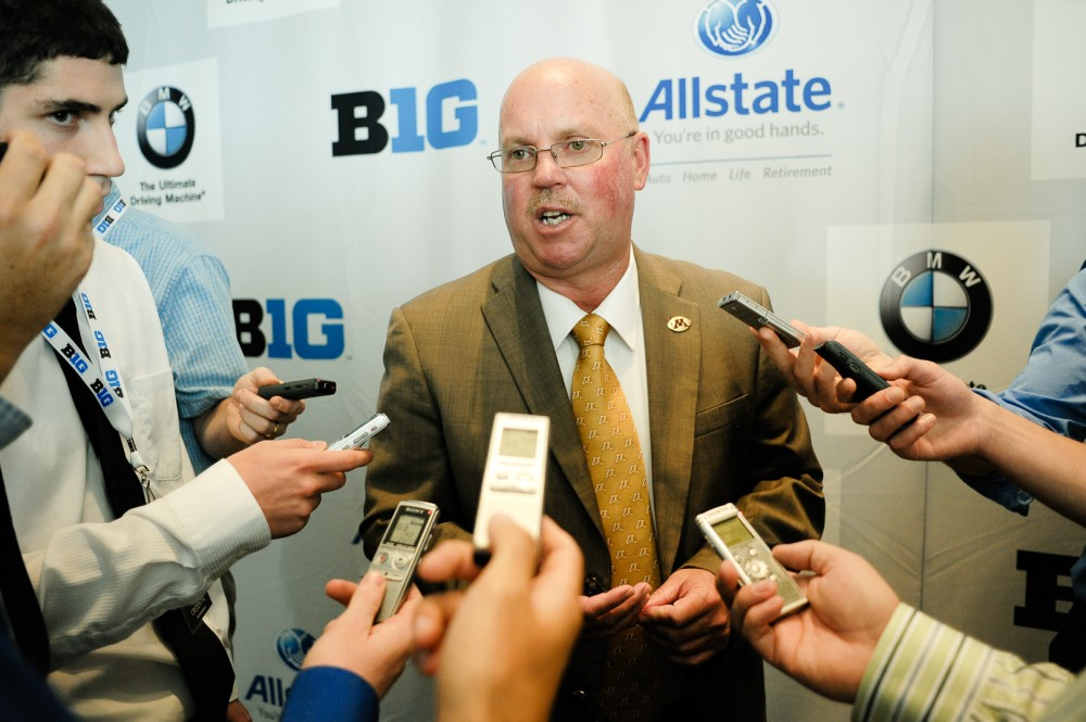 Minnesota Head Coach Jerry Kill at Big 10 Media Days in Chicago.
