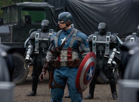 Chris Evans stars as the Allies' red, white and blue war hero.
