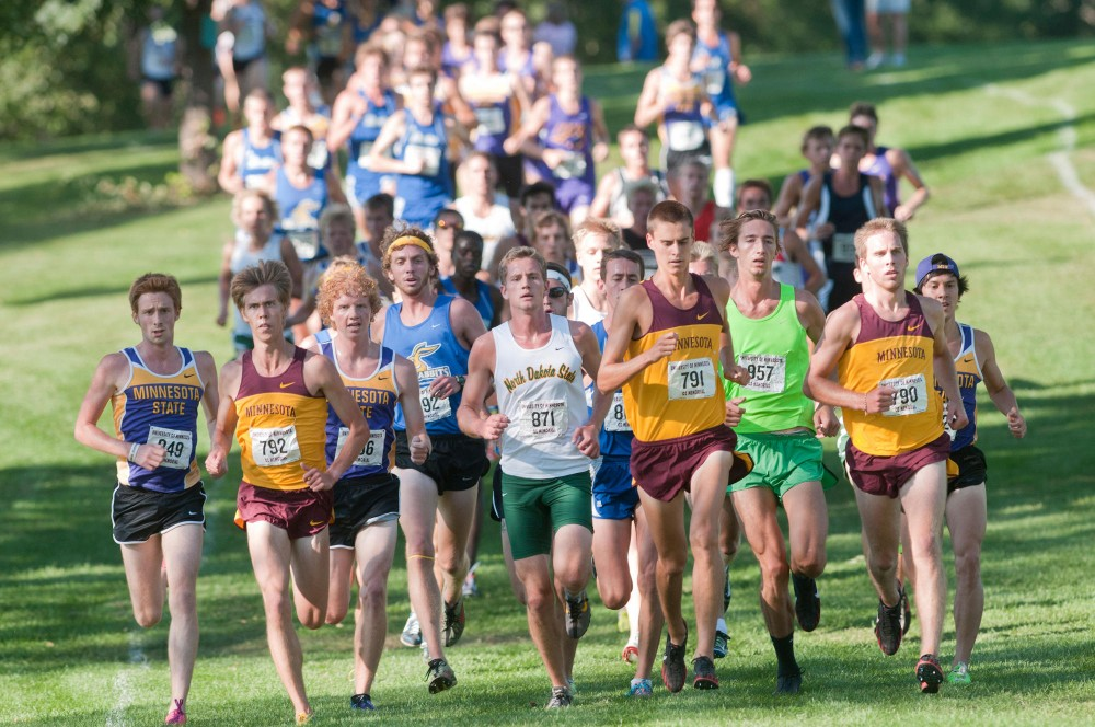 Six schools joined the U of M's cross country team during a 6K run Friday  at the Les Bolstad golf course in St. Paul.
