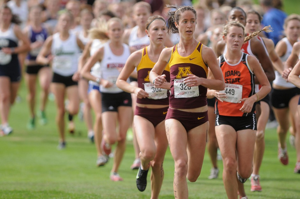 Minnesota sophomore Cassy Opitz competes Saturday in the 26th Annual Roy Griak Invitational on the St. Paul Campus.