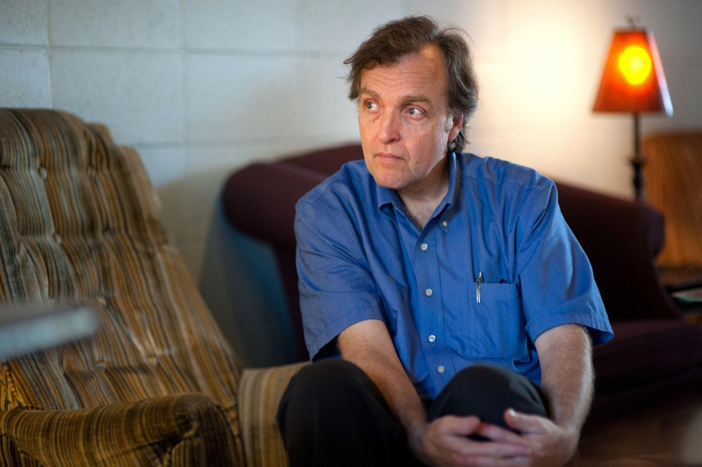 Councilman Cam Gordon waits to see if anyone will visit Tuesday during his office hours at Muddsuckers Coffee in Dinkytown.