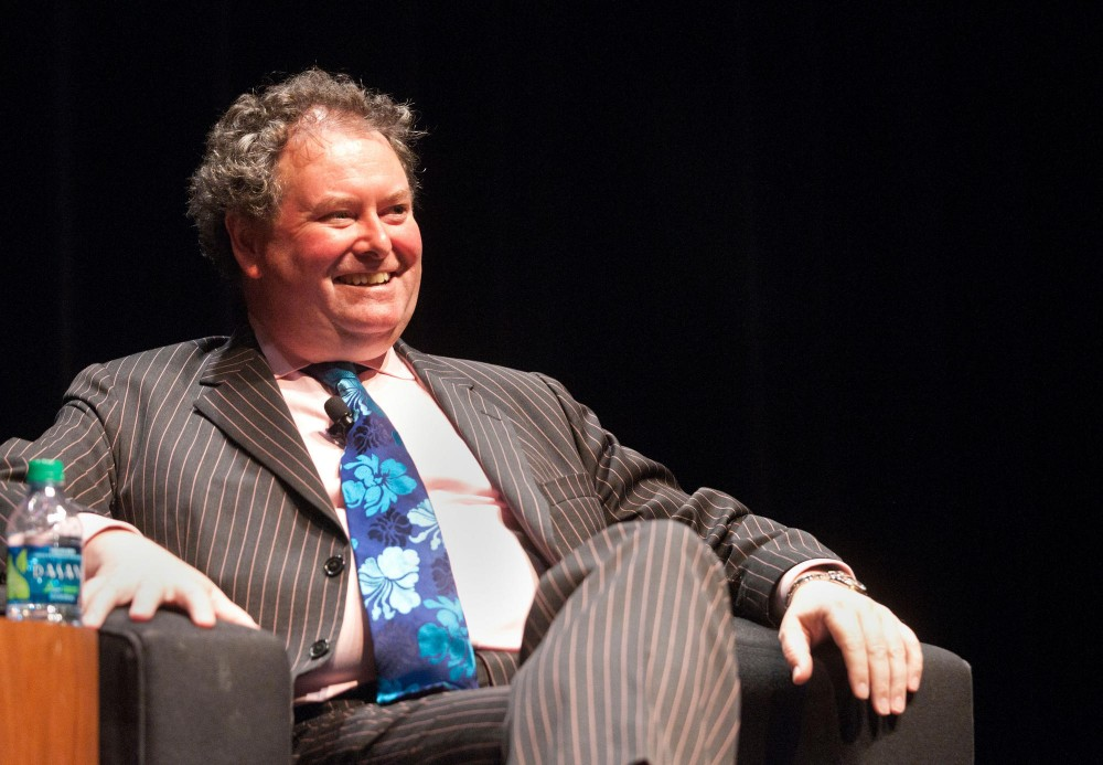 Former council to Julian Assange Mark Stephens speaks at the 26th Annual Silha Lecture Tuesday evening in Coffman Union Theater.  Stephens is an advocate for free speech and freedom of information and heads the law firm Finers Stephens Innocent, which is based in London .