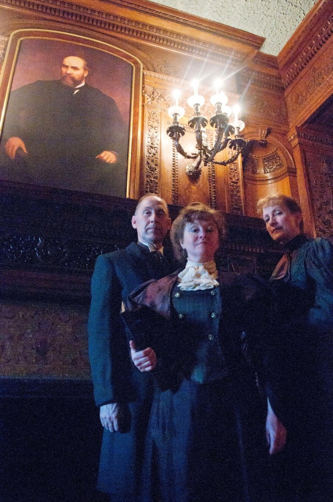 Actors Craig Johnson, Laura Salveson and Ann Daly bring the audience back into the 19th-century in their performance of  Victorian Ghost Stories put on in the James J. Hill House in St. Paul. The performance is not recommended for children under age 8 and includes some