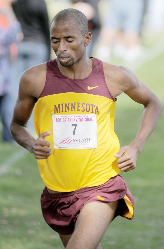 Minnesota senior Hassan Mead competes Saturday in the 26th Annual Roy Griak Invitational on the St. Paul Campus.