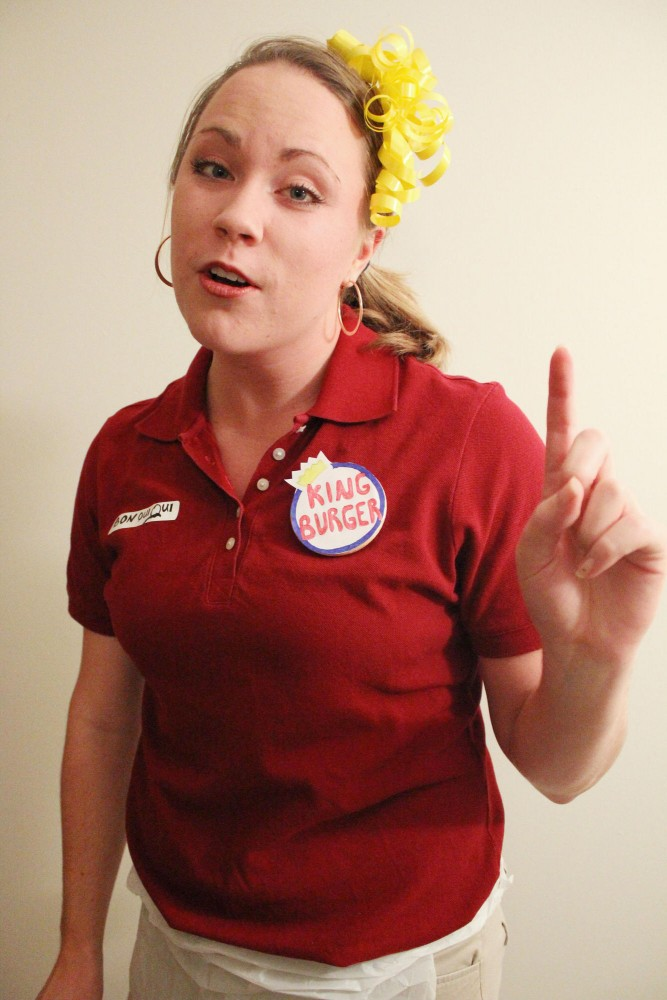 Amy Palmer raps as Bon Qui Qui at King Burger from MAD TV.