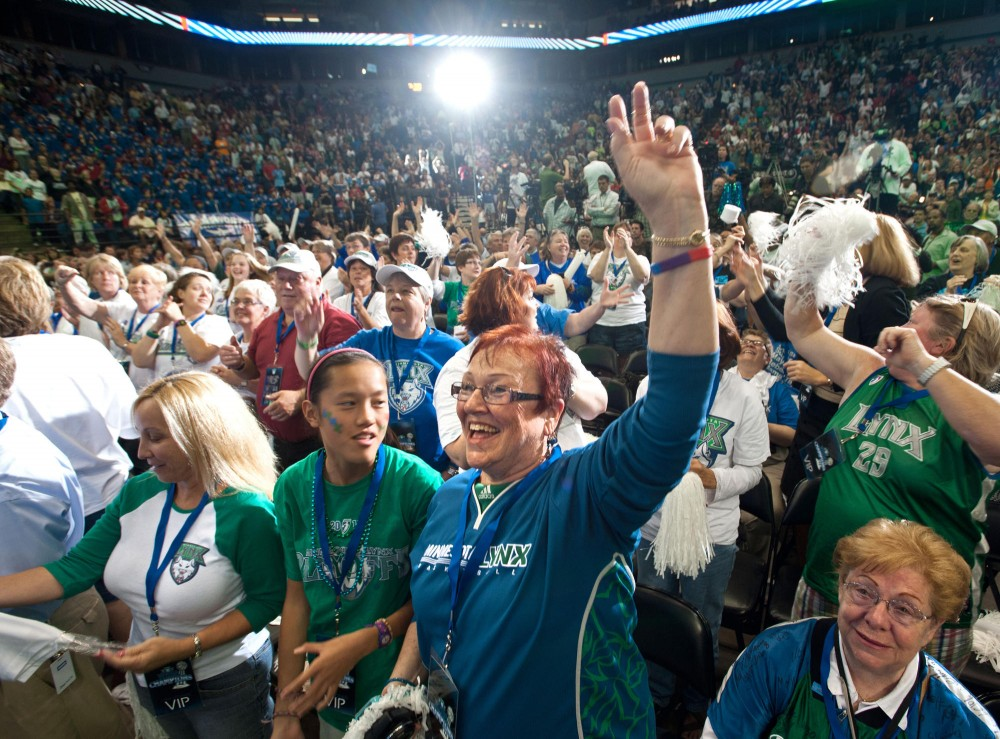An estimated 4500 fans cheer for the WNBA champions Tuesday inside the Target Center in Downtown Minneapolis.