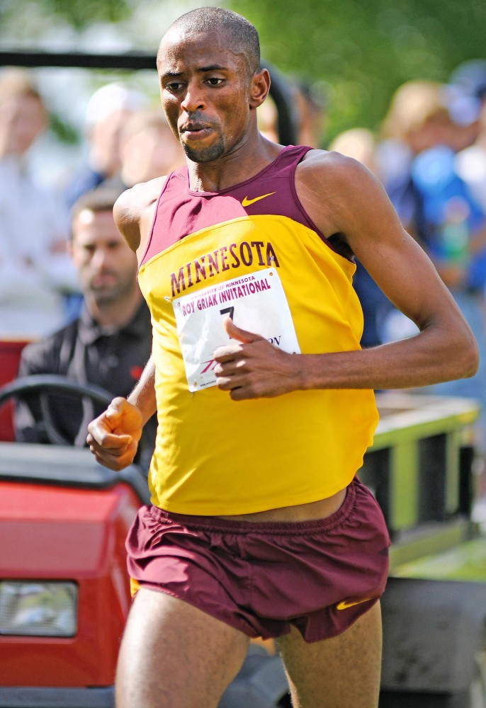 Minnesota senior Hassan Mead competes Saturday, September 24 in the 26th Annual Roy Griak Invitational in Falcon Heights.