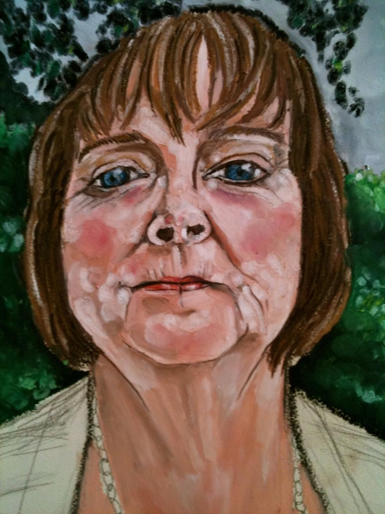Artist Reeva Wortel paints striking portraits like Lillian, one of the interviewees affected by BP's oil spill. Wortel will display the portraits throughout the forthcoming play