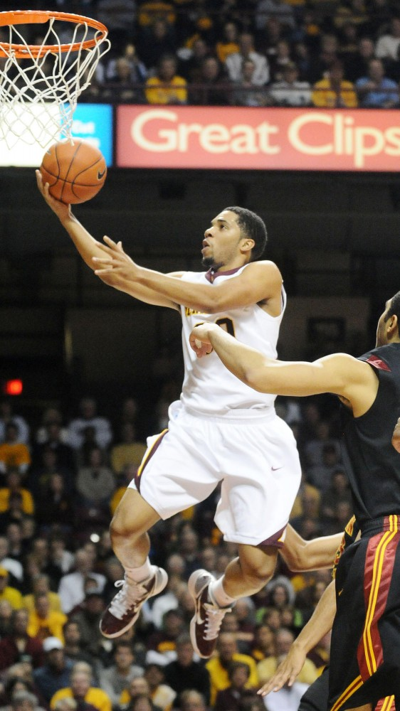 The Minnesota mens basketball team shut down the USC Trojans Saturday afternoon in Williams Arena. The Gophers dominated 55-40.