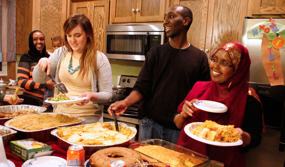 Former candidate for SD59 Mohamud Noor and his wife Farhiya Del hosted a thank you dinner Sunday at his home in Northeast Minneapolis for volunteers from his campaign.