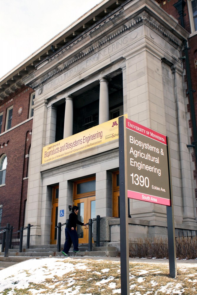 The Biosystems and Agricultural Engineering Building is in review for remodeling. It was built in 1913 and is one oldest buildings on the Saint Paul campus.