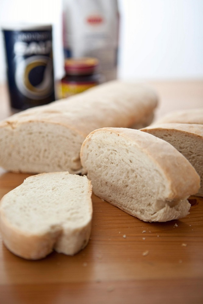 French bread is one of the easier breads to make requiring only flour, yeast, salt, and water.