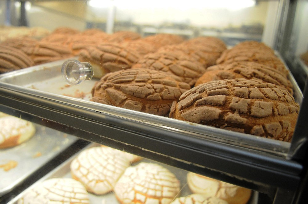Conchas, a Mexican sweet bun, are the most popular pastry at the Panaderia el Mexicano located within the Mercado Central on East Lake St, Minneapolis.