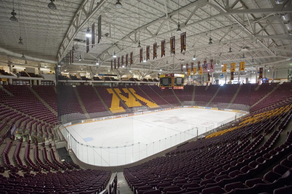 Gopher men's hockey coach Don Lucia cited a new scoreboard and sound system among multiple improvements he wishes to see in the nearly 20-year-old Mariucci Arena.