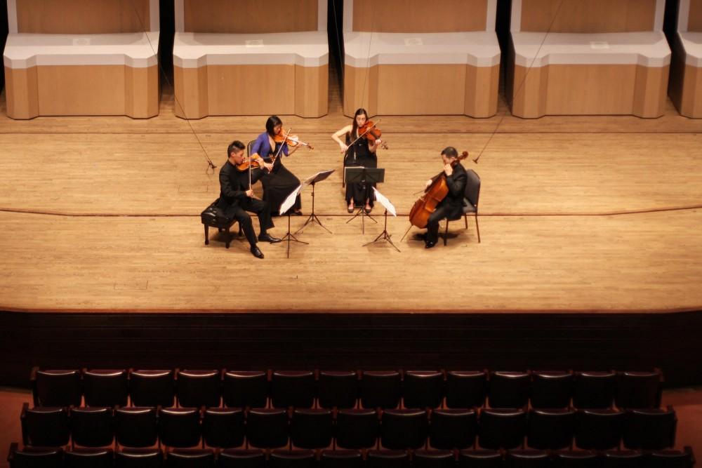 The Parker Quartet at Ted Mann Concert Hall Wednesday.