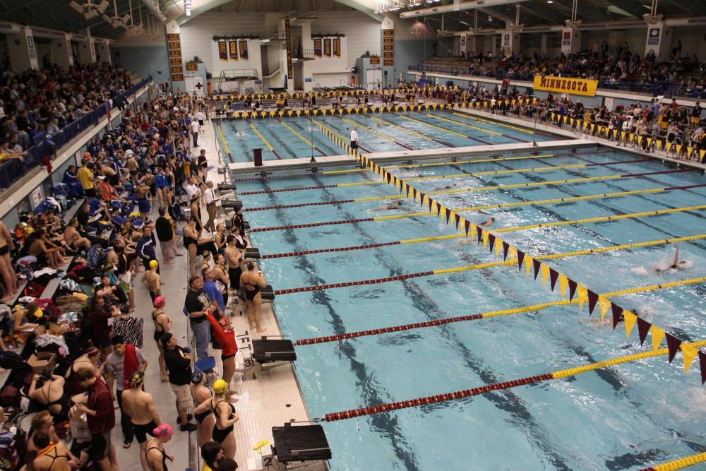 The University Aquatic Center on Friday night opened the first session of the Minnesota Challenge.  The challenge continued on to Saturday with a morning and evening session.