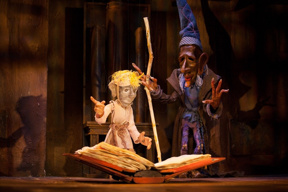 The eponymous marionettes of The Sorcerers Apprentice, a new show by Michael Sommers opening Friday at the Open Eye Figure Theatre.