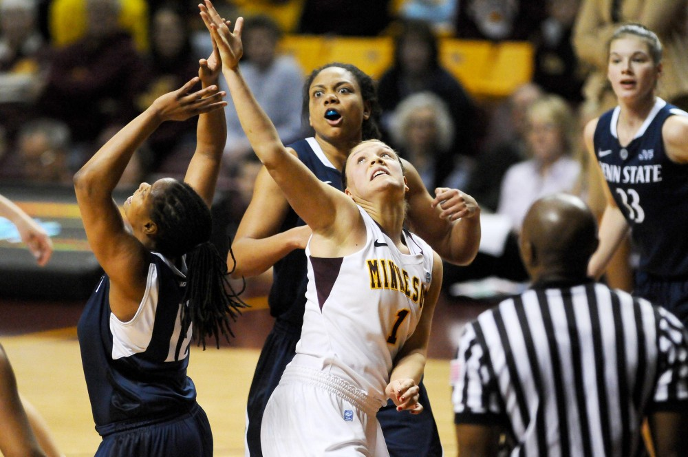 Minnesota guard Kiara Buford makes a basket against Penn State Feb. 5 at Williams Arena.