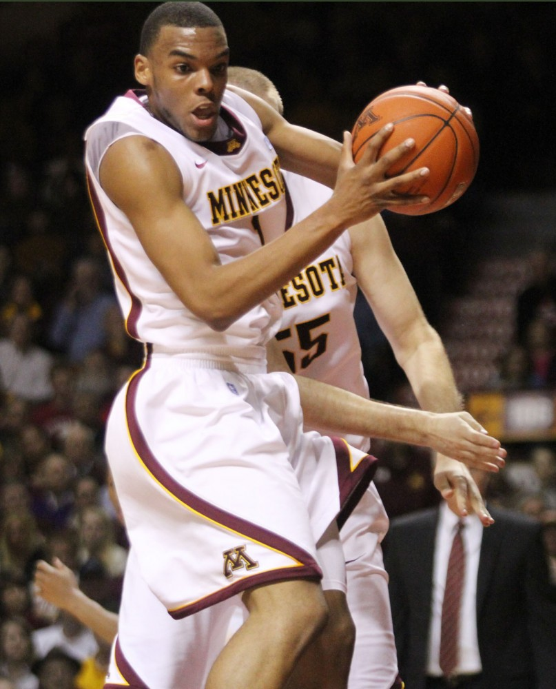 Minnesota guard Andre Hollins during Thursday night's game against Wisconsin at Williams Arena. Minnesota lost 68-61.