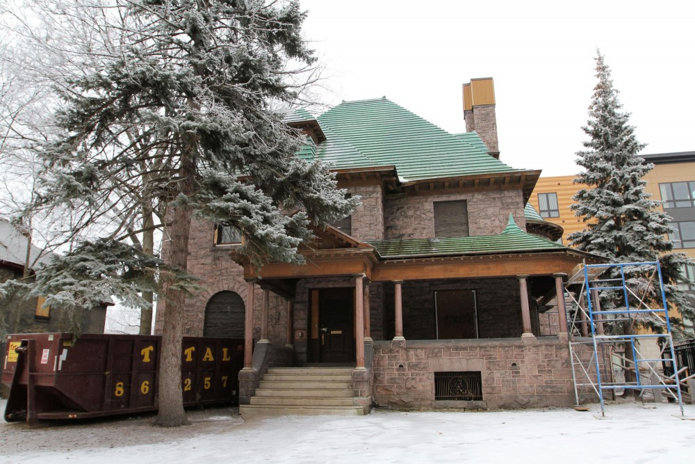 The Henry B. Frey mansion at 1206 Fifth Street SE has plans for renovation to become the American Indian Movement Interpretive Center, pending funding.