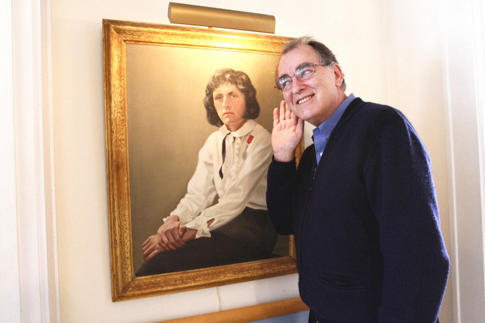 Eric Utne, founder of Utne Reader Magazine, recently published a book titled Brenda, My Darling: The Love Letters of Fridtjof Nansen to Brenda Ueland. A painting of Brenda Ueland, Utnes step-grandmother, hangs on a wall in his home in South Minneapolis.
