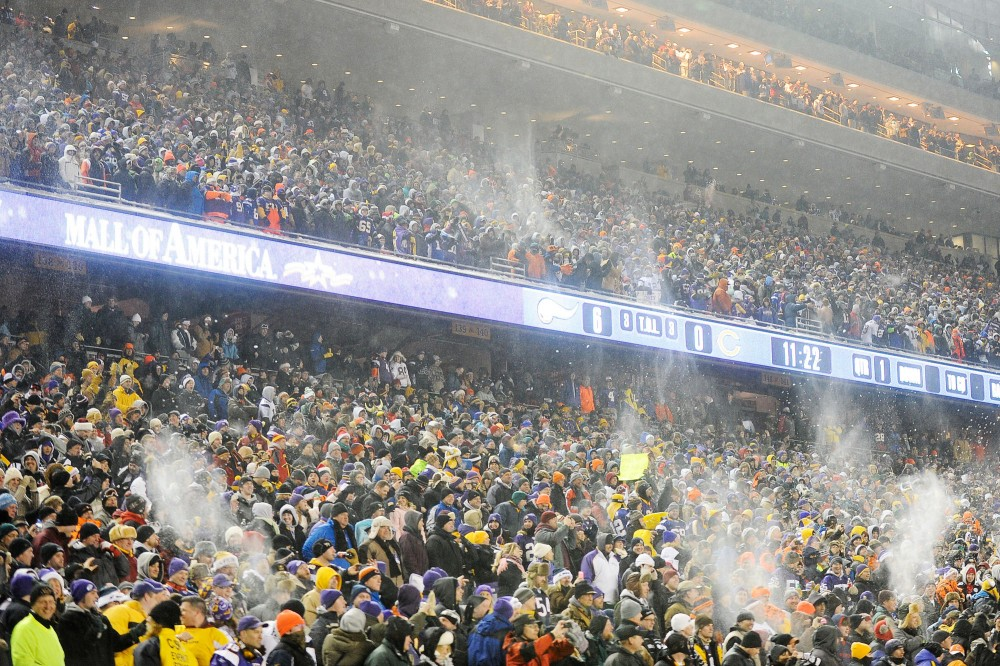 Vikings fans pack TCF Bank Stadium for their game against the Green Bay Packers on Dec. 20 2010.  The Vikngs and the University agreed on a tentative arrangement for the team to return if a new stadium is built at the Metrodome site.