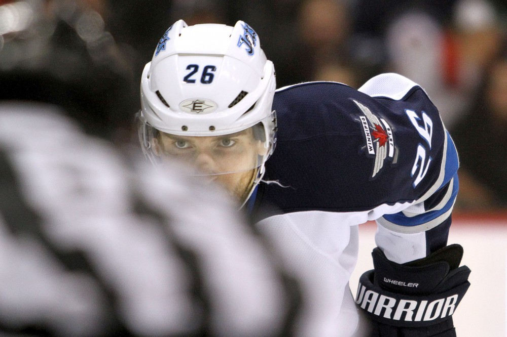 Former Gopher Blake Wheeler now plays as a forward for the Winnepeg Jets. Wheeler is leading the Jets in points this season.