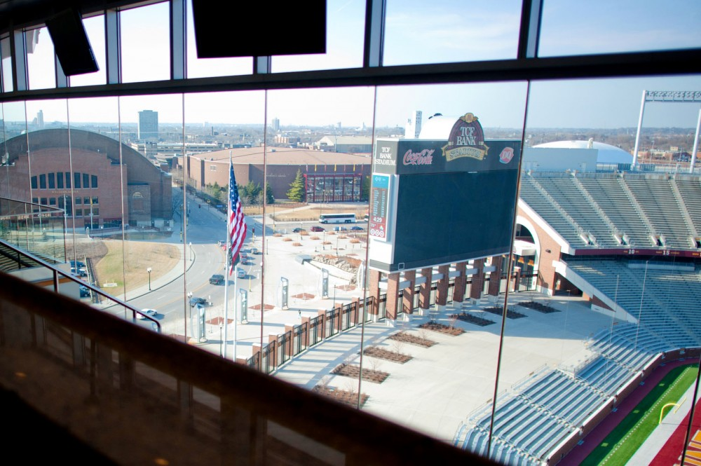 A bill that passed the Commerce and Regulatory Reform Committee on Wednesday would allow beer to be served in TCF Bank Stadium suites and a designated area in or near the stadium for the public. The west plaza of the stadium has been proposed as the public location.